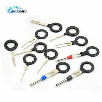 Remove Tool Set 3/8/11pcs Auto Car Plug Circuit Board Wire Harness Terminal Extraction Pick Connector Crimp Pin Back Needle