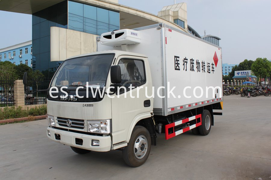 Medical waste transport vehicle