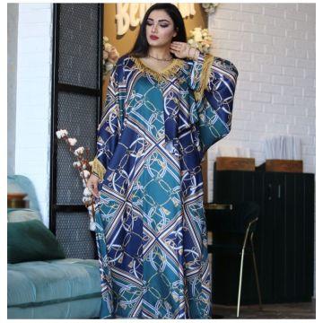 Turkye Arabic Muslim Dress Women Flower Elegant India Pakistan Moroccan Kaftan Jubah Hijab Abayas Robe Dubai Islamic Clothing