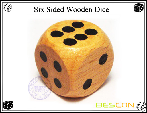 Six Sided Wooden Dice