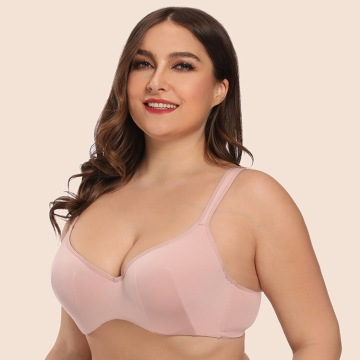 In-stock plus size invisible wire seamless mould bra
