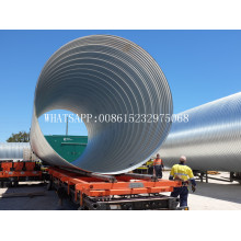 high quality corrugated steel pipe making machine