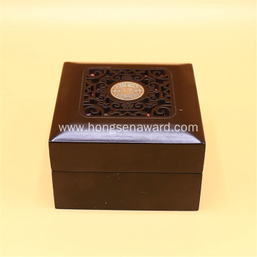 Brown wooden ornament box