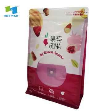 Recyclable Food Packaging Custom Flexible Pouch Window Bag
