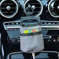 1 Pcs Car Outlet Air Vent Storage Pocket Mobile Phone Pouch Car Storage Bag Organizer Stowing Car Accessories Interior