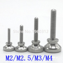 5pcs M2 M2.5 M3 M4 Stainless steel step knurled thumb screw Hand Tighten Curtain Wall Glass Lock Screws
