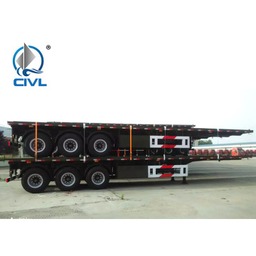 Carbon Mn Steel Flatbed Semi Truck  12600*3000mm