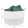 Cotton Rope Stackable  Basket Striped Laundry Hamper