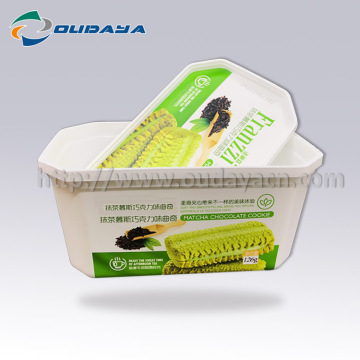 126g Cookies Plastic Container In Mold Labeling