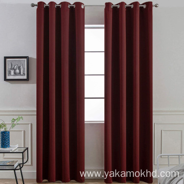Burgundy Red Blackout Curtains 84 Inch Long