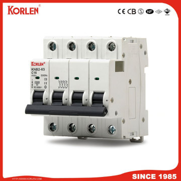 new type mini circuit breaker 4P 10KA capacity