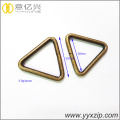 hardware antique brass metal triangle buckle ring