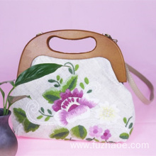 Hand-embroidered handbag female simple cloth bag
