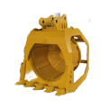 Hydraulic excavator drum screen bucket
