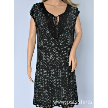Women Black Polka Dot Dress