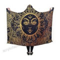 Coperta Pilling Fleece Hooded Paisley Sun