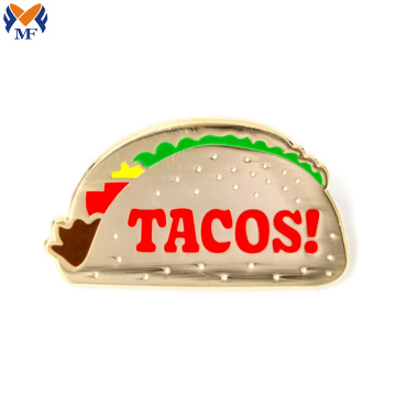 Metal Custom Taco Enamel Pin