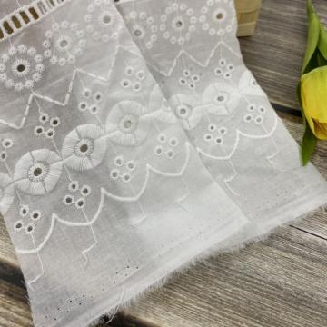 Circle Cotton Eyelet Embroidery Fabric On Cotton Ground