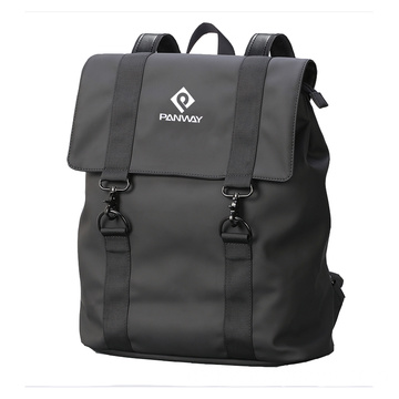 Mode Shinny Black Backpack Men Wasserdichter Rucksack