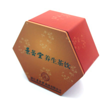 Hexagon tinplate box Nutritional health product tin box