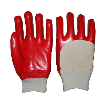 Open Back PVC Knitted Wrist Gloves