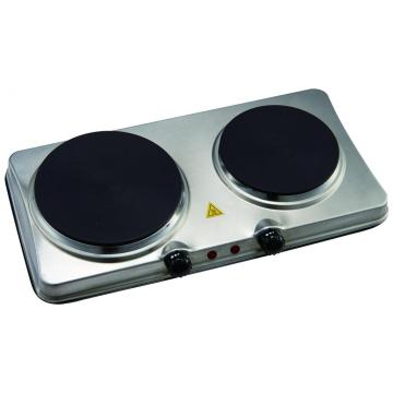Electric Stainless Steel Double Hob