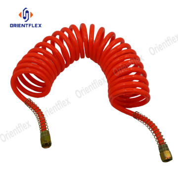 Flexible air brake PU super coil hose pipes