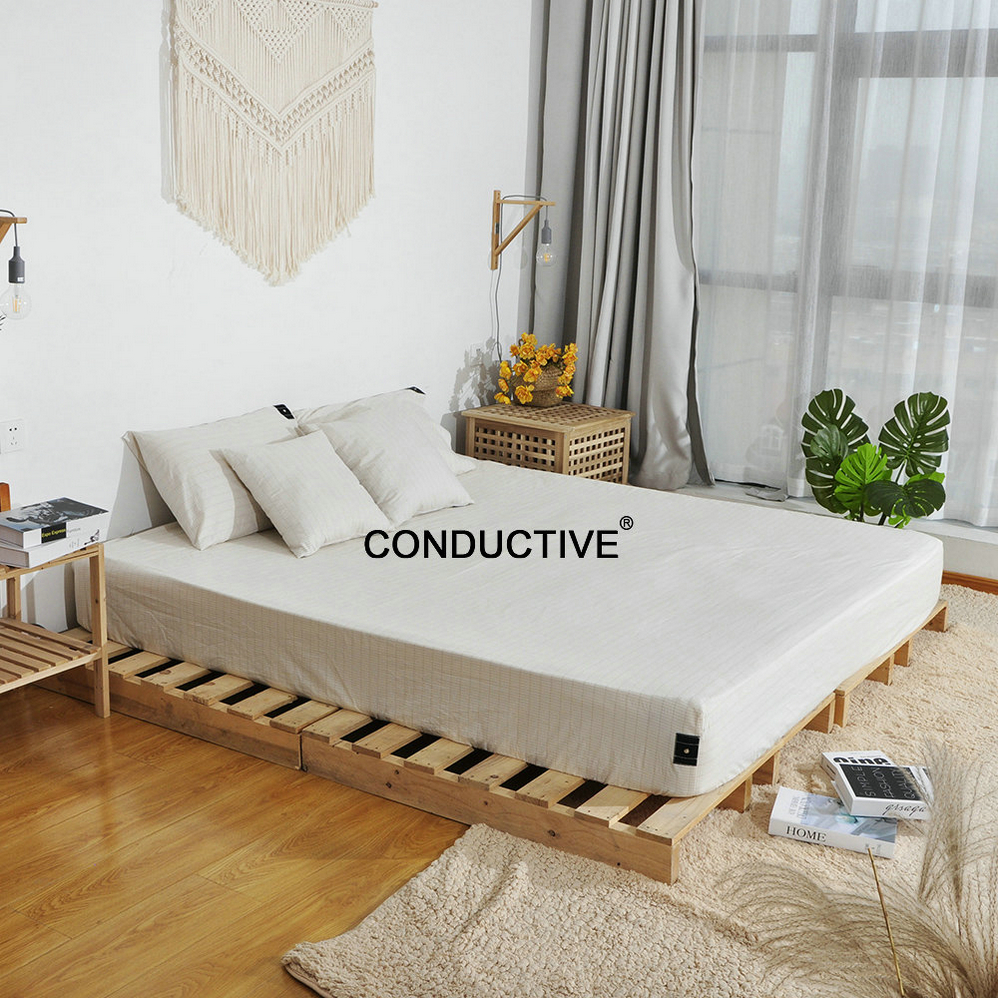 Conductive Earth Bed fitted Sheet