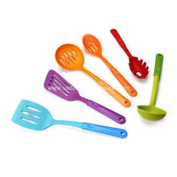 Silicone Kitchen Utensils Set with plastic handle