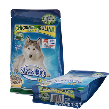 Custom Printing Flat Bottom Pet Food Pouches