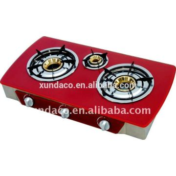 3 Burner Red Glass