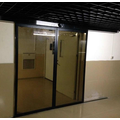 Tempered glass automatic sliding door home