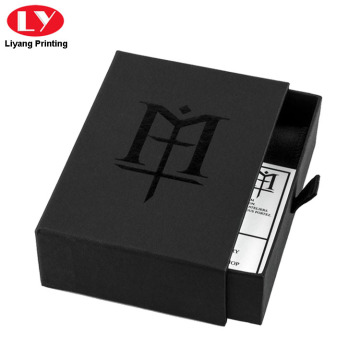 Maluho nga drawer Matte Black Wallet Box Packaging
