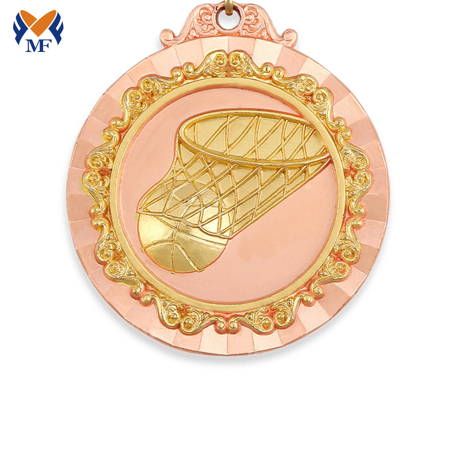 Basketball Metal Medals