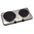Plate for Cooking Portable Electric double burner Silver