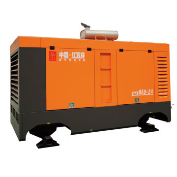 Hot HG9080-24F 24bar portable screw air compressor