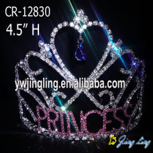 Heart Shape Rhinestone Princess Tiaras For Girls