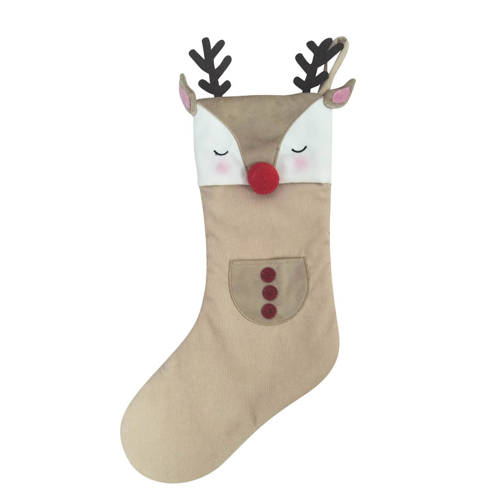 Christmas Stocking With Cute 3d Animals Shape