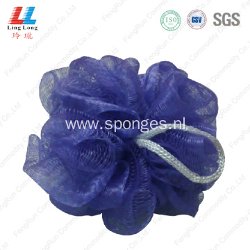 single color body scrubber bubble pouf sponge
