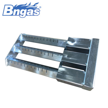 Stainless steel three bar commercial gas burner