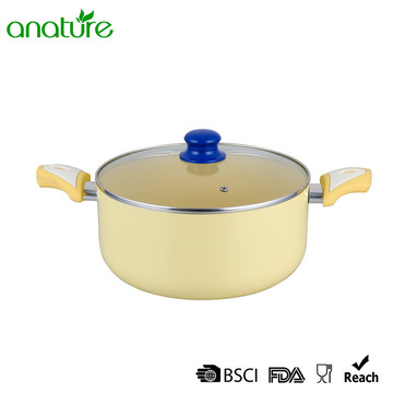 8 Inch Pressed Yellow Non Stick Casserole