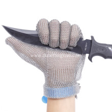Wrist Length Chain Mail Mesh Gloves