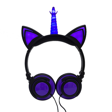 Light up Oem Unicorn Headphone Wired Without mic