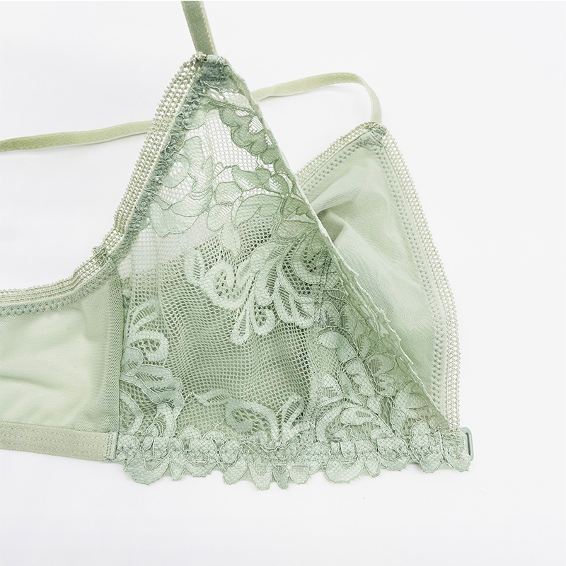 Lace Covered Thin Cup Bra