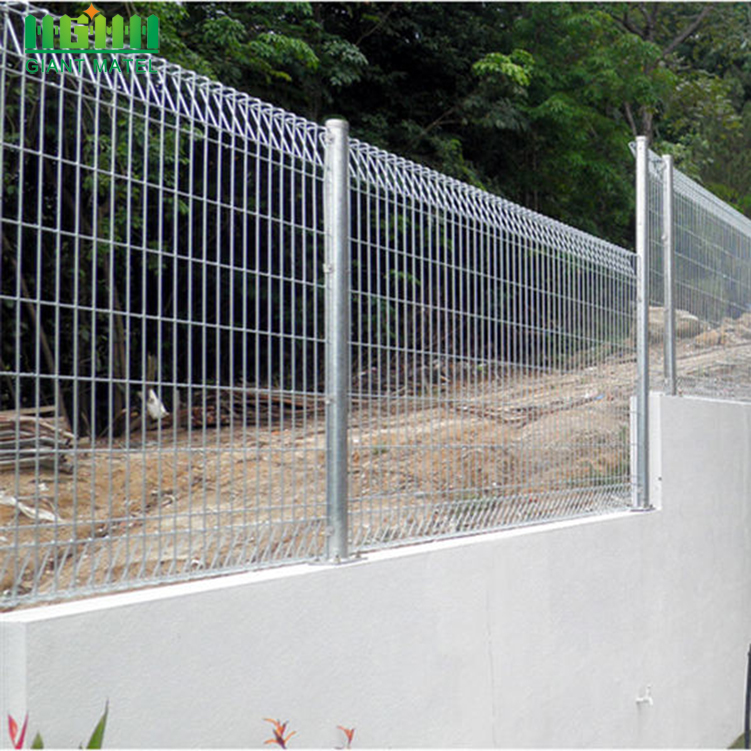 Galvanized Roll Top BRC Mesh Fence Panels