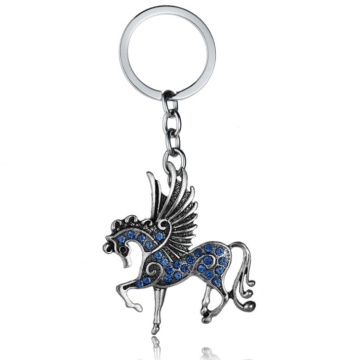 Custom zinc alloy soft enamel metal keychain Wholesale