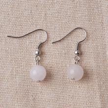 Silver Rose Quartz Gemstone Earrings Wedding Jewellery