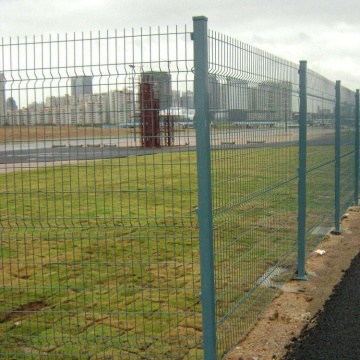 galvanized welded curved wire mesh fence
