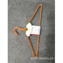 Plastic Coated Wire Hanger Orange