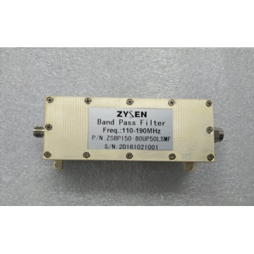 110-190MHz LC Bandpass Filter